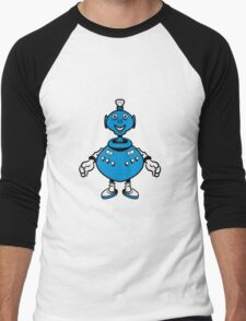 Robot cool funny PEAR fat funny Men's Baseball ¾ T-Shirt