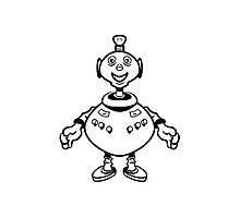 Robot cool funny PEAR fat funny Photographic Print
