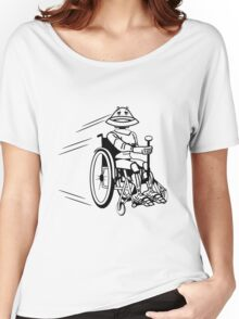 Robot cool tired funny funny wheelchair Women's Relaxed Fit T-Shirt