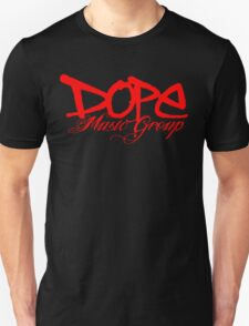 Dope Music Logo RED Unisex T-Shirt