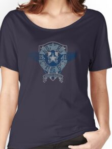 Rogers Boxing Gym 2 on Navy Women's Relaxed Fit T-Shirt