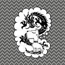 rad self-aggrandizing dog dragon by hellohappy