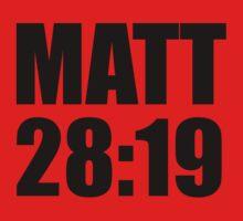 Matthew 28:19 One Piece - Short Sleeve