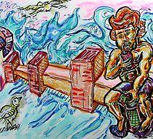 Tomando Mate en la Rambla by Douglas Durand