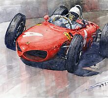 1961 Germany GP Ferrari 156 Phil Hill by Yuriy Shevchuk