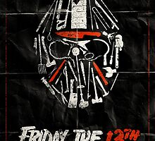 Friday the 13th Folded Poster by Rob Hansen