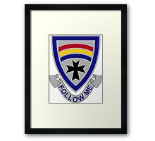 166th Infantry Regiment - Follow Me Framed Print