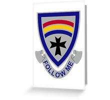 166th Infantry Regiment - Follow Me Greeting Card
