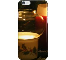 Holly Leaves and Candles All Aglow iPhone Case/Skin