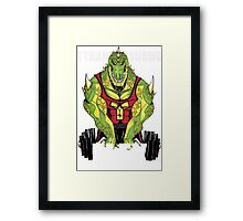 Tyrannosaurus Flex (With text) Framed Print
