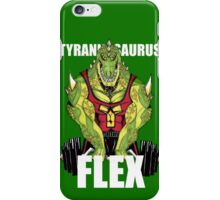 Tyrannosaurus Flex (With text) iPhone Case/Skin