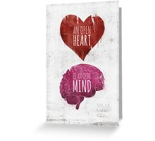 Open Heart, Open Mind Greeting Card