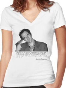 QT Women's Fitted V-Neck T-Shirt