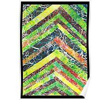 Gelli Print Stripes 1 Poster