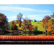 Asheville in the fall Photographic Print