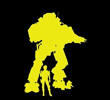 Yellow and Black Robot Titan - iPhone Galaxy -  Vector Design Video Game by CooliPhones