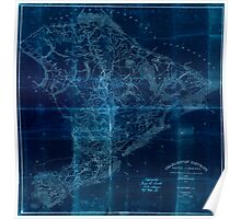 Civil War Maps 0250 Charleston District South Carolina Inverted Poster