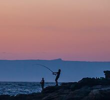 Sunrise Fishing at Bosum Beach by Jayne Ion