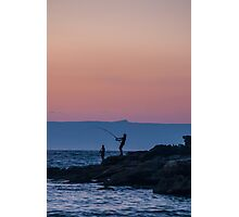 Sunrise Fishing at Bosum Beach Photographic Print