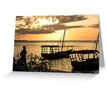 Zanzibar and the golden sunset.. Greeting Card