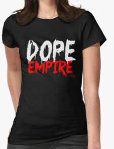 Dope Empire Red WHITE Womens Fitted T-Shirt