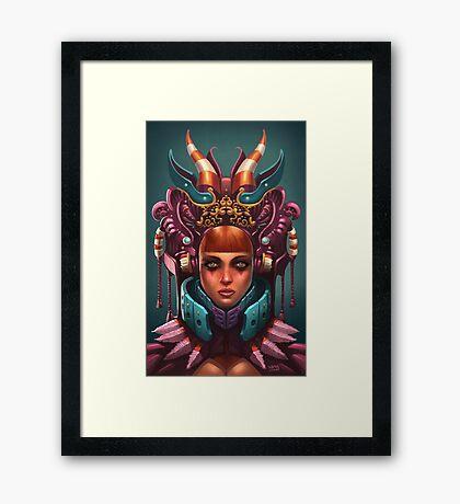Rashah Queen Portrait Framed Print