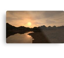 Remote Sunset Metal Print