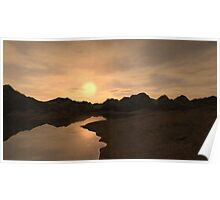 Remote Sunset Poster