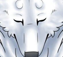 purrty arctic wolfie Sticker