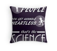 Fandom Hearts - That's The Science Throw Pillow