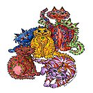 Crazy Cats by Lisa Frances Judd~QuirkyHappyArt