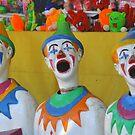 Sideshow clowns by Julie Sherlock