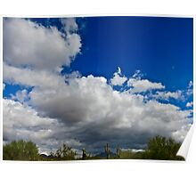 """Desert Clouds"" Scottsdale, Arizona Poster"