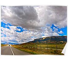 """""""Clouds and Road"""" Utah Poster"""