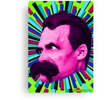 Nietzsche Burst 8 - by Rev. Shakes Canvas Print