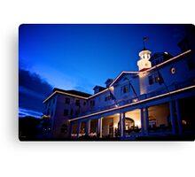 Stanley Hotel at Twilight Circa 2010 Canvas Print