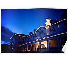 Stanley Hotel at Twilight Circa 2010 Poster