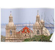 Monastery view from São Jorge Castle Poster