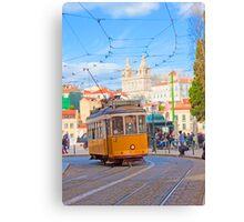 28. tram in Lisbon Canvas Print