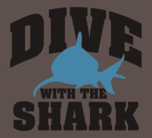 Dive with the shark One Piece - Short Sleeve