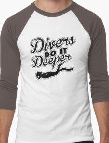 Divers do it deeper Men's Baseball ¾ T-Shirt