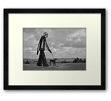 Man and Dog Framed Print
