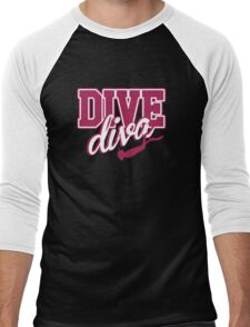 Dive Diva Men's Baseball ¾ T-Shirt
