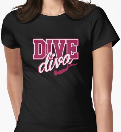 Dive Diva Womens Fitted T-Shirt