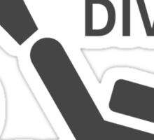 Scuba divers go down for pleasure Sticker