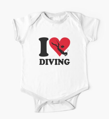I love diving One Piece - Short Sleeve