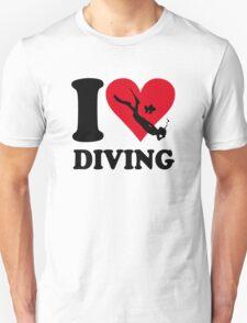 I love diving Unisex T-Shirt