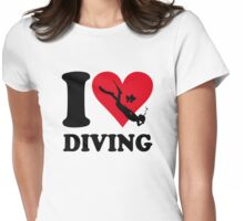 I love diving Womens Fitted T-Shirt