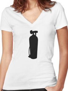 Diving Tank Women's Fitted V-Neck T-Shirt
