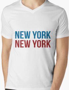 New York New York Mens V-Neck T-Shirt